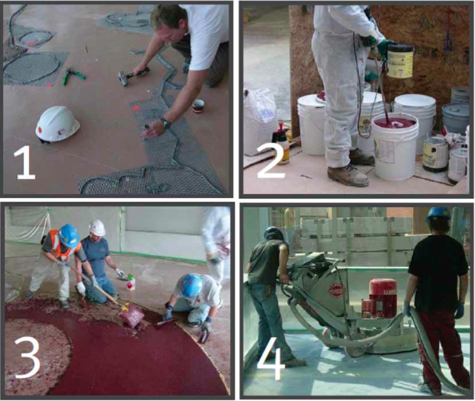 About Terrazzo NCTA - How are terrazzo floors made