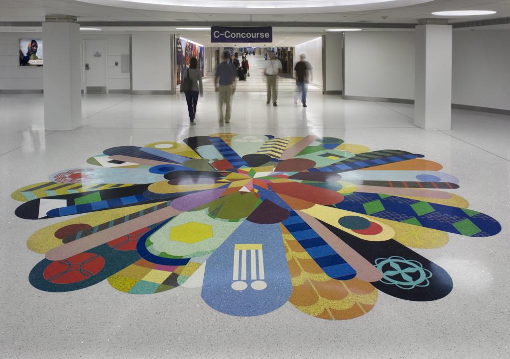 Terrazzo flooring at Lambert International airport missouri