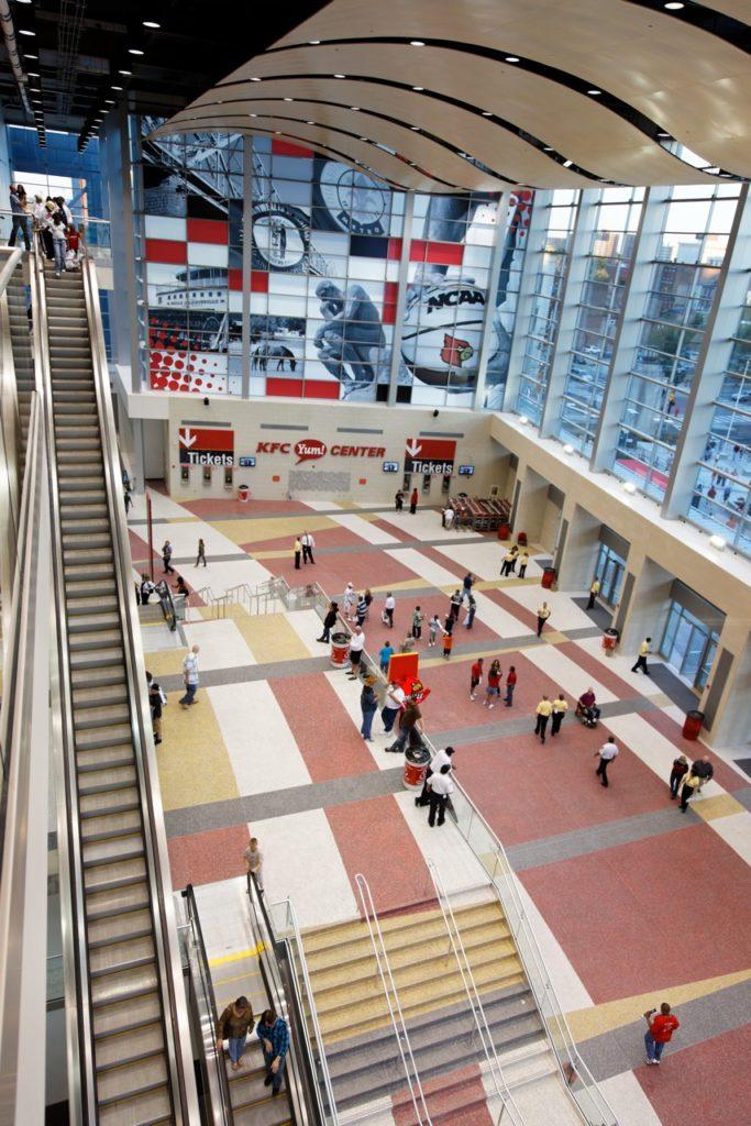 KFC Yum Center terrazzo flooring design