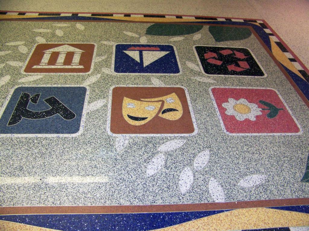 Cleveland Airport terrazzo flooring design ohio