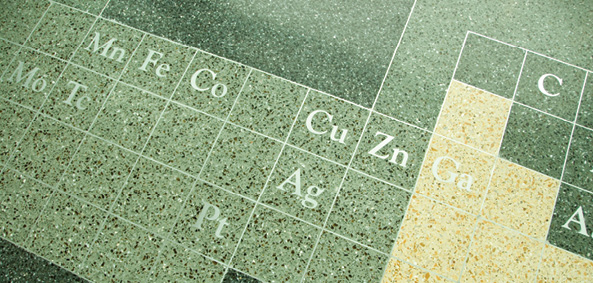 Silverman Hall terrazzo periodic table