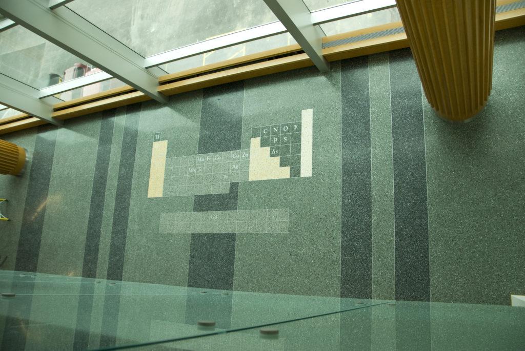 terrazzo flooring design silverman hall northwestern university