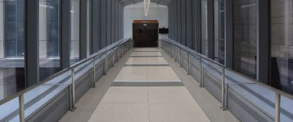 Northwestern Memorial bridge terrazzo