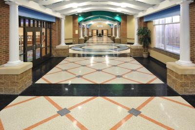 Brooks Elementary terrazzo corridor