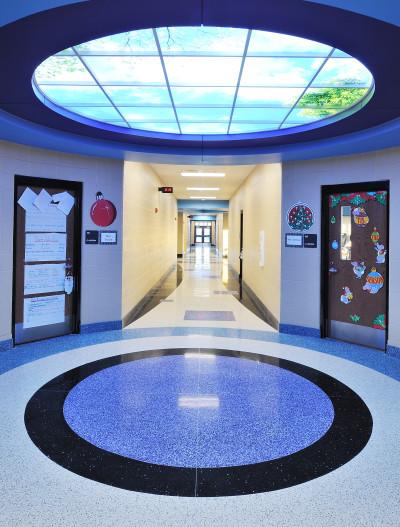 Brooks Elementary terrazzo hallway