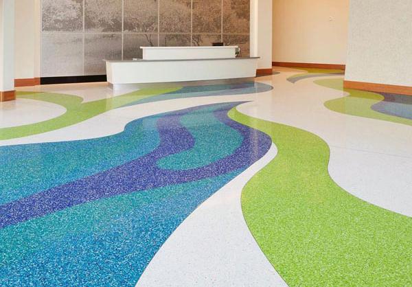 terrazzo flooring design hospital