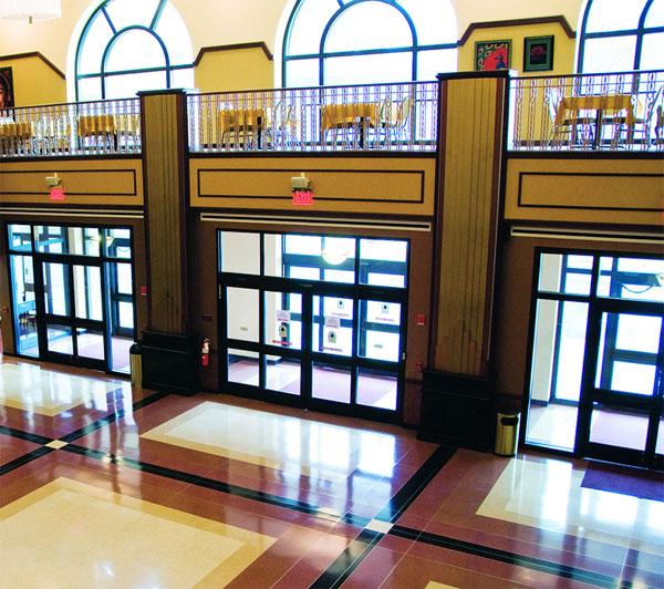 terrazzo flooring design paramount theater aurora