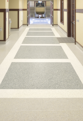 Currey Ingram Terrazzo Hallway