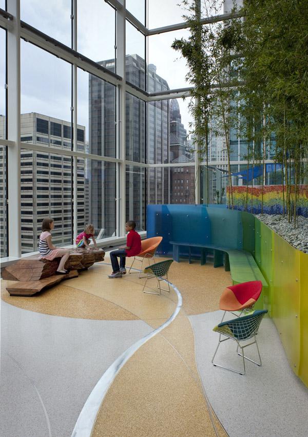 terrazzo flooring design lurie children's hospital
