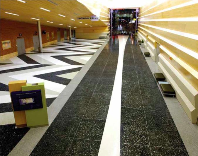 Terrazzo flooring design in Chicago, IL