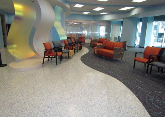 terrazzo flooring design devos children's hospital helen