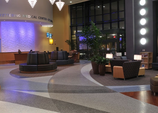 terrazzo flooring design kettering medical center