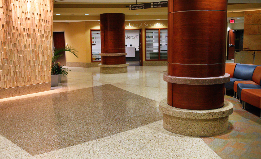 "Terrazzo Ties Together Hospital's ""Whimsical"" Architecture"