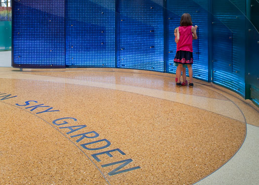 terrazzo flooring design lurie children's hospital chicago illinois
