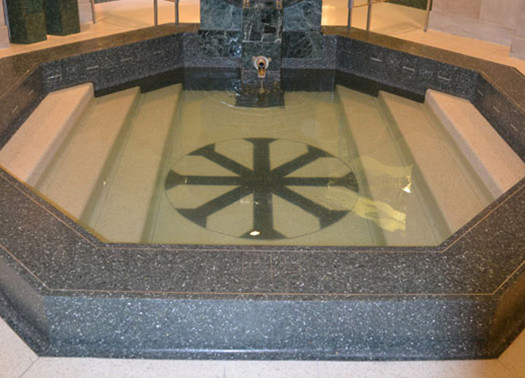 terrazzo flooring design christ the king cathedral