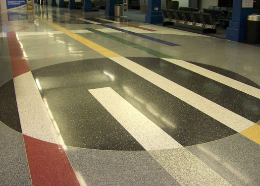 terrazzo flooring design cleveland hopkins airport ohio