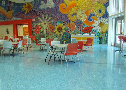 terrazzo flooring design devos children's hospital