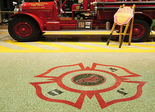 terrazzo flooring design jeffersonville fire station