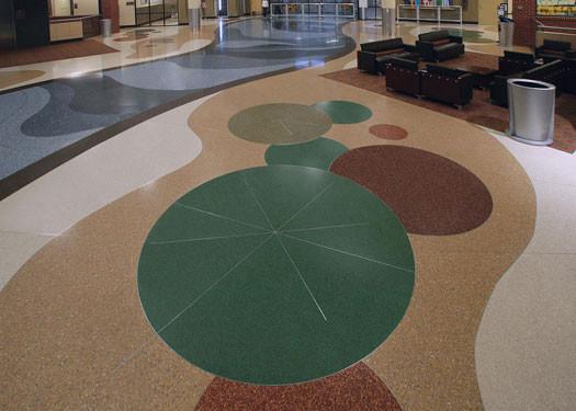 terrazzo flooring design kalamazoo battlecreek airport