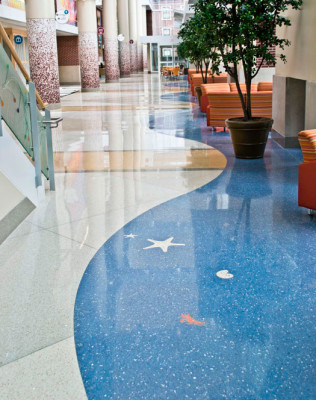 terrazzo flooring design riley hospital for children