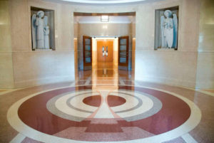 terrazzo flooring design sisters of st. francis perpetual adoration
