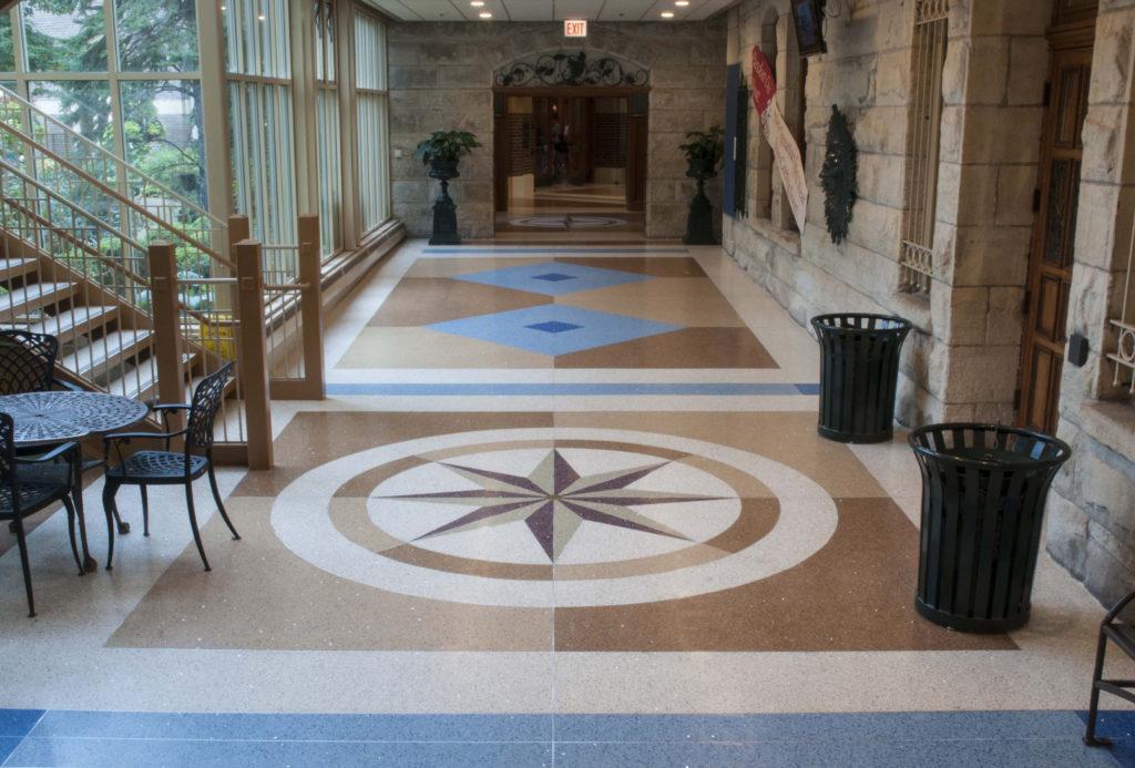 terrazzo flooring design st. ignatius college prep chicago