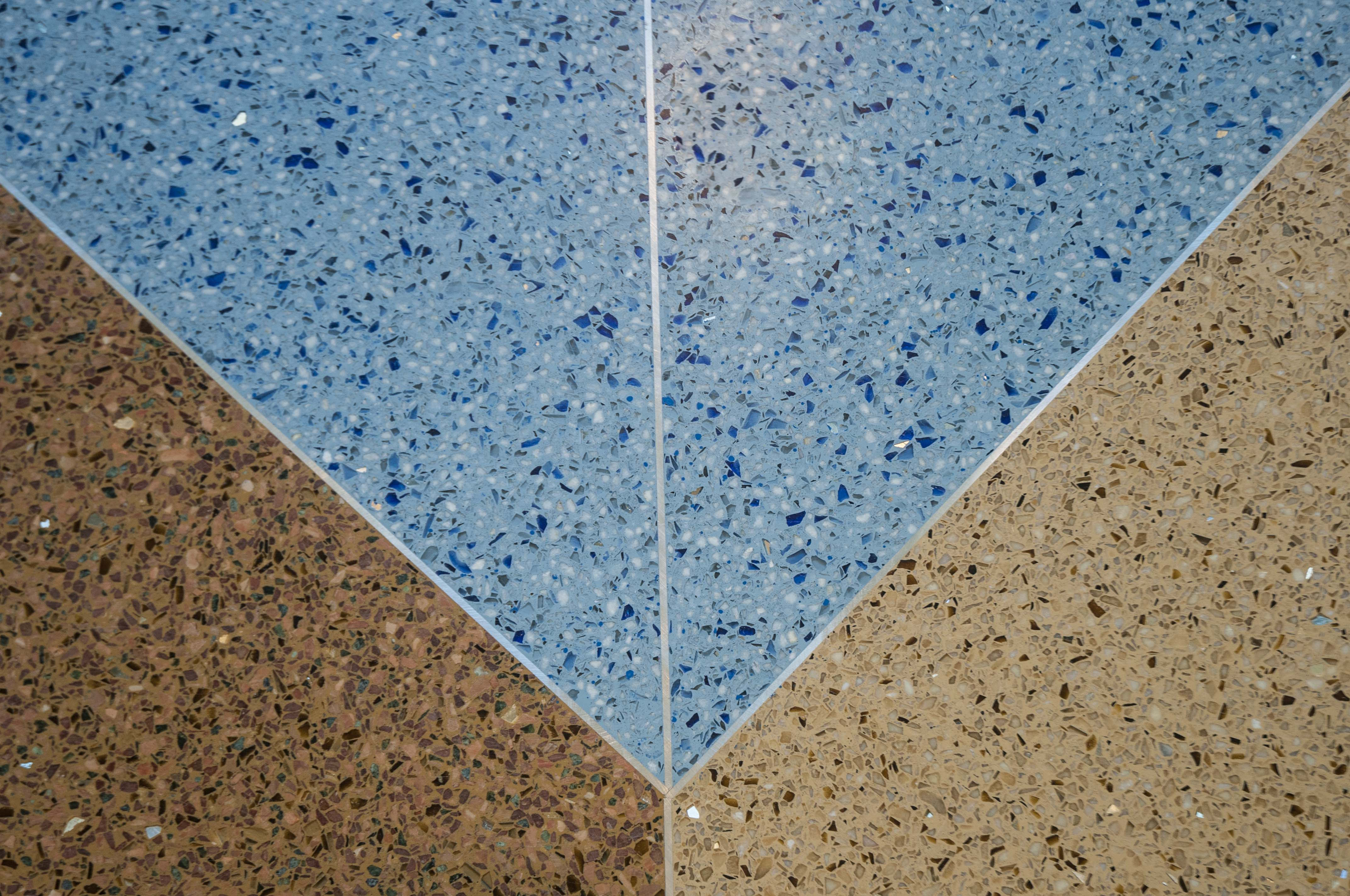 Replacing Brick and Carpet with Terrazzo Color