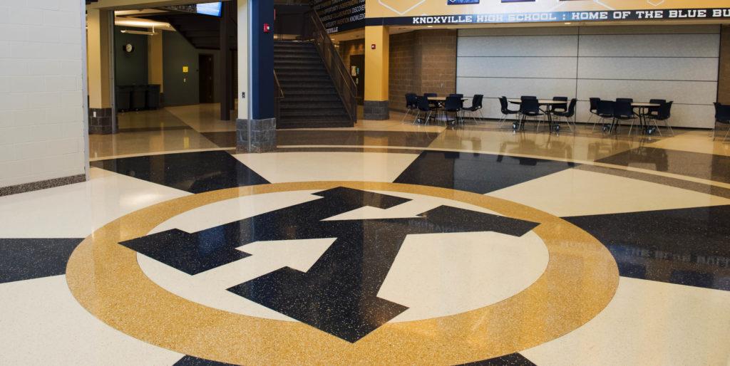terrazzo flooring design knoxville high school