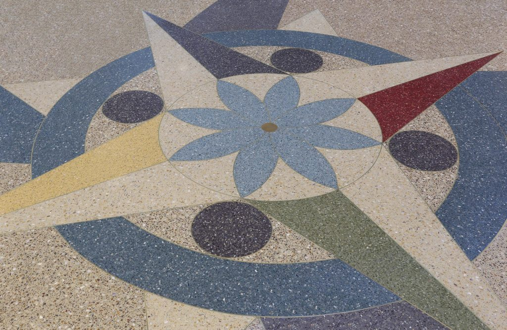 terrazzo flooring design adventist amita cancer institute