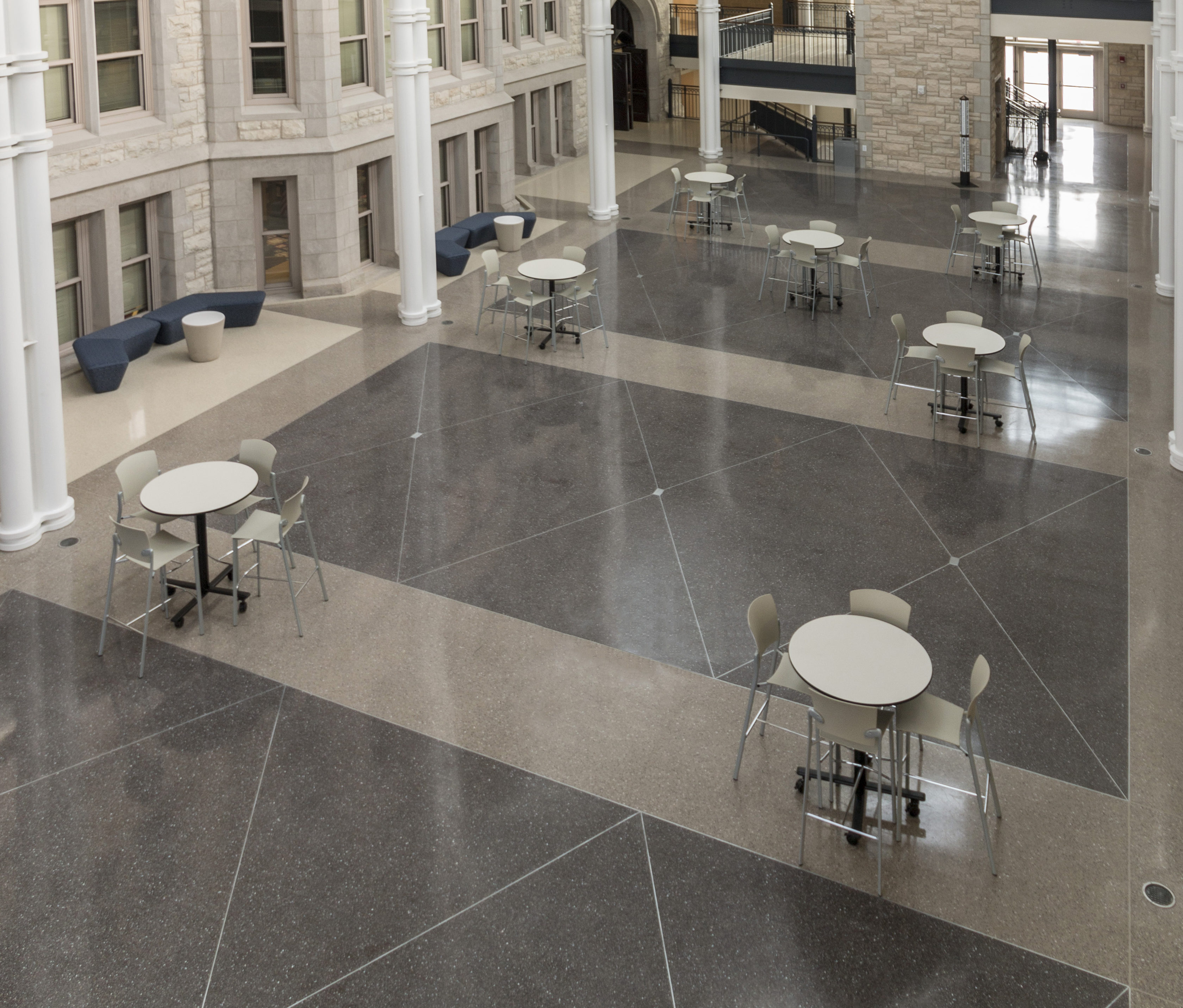 picture flooring royalty and white floor terrazzo texture black stock photo