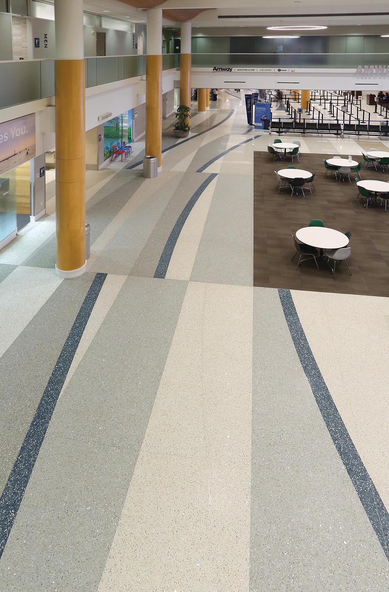 Gerald R. Ford International Airport terrazzo floor design from NCTA