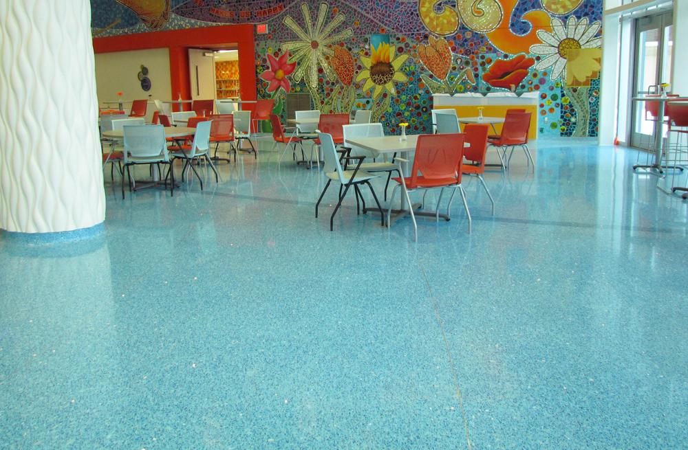 Devos Children's Hospital terrazzo colors