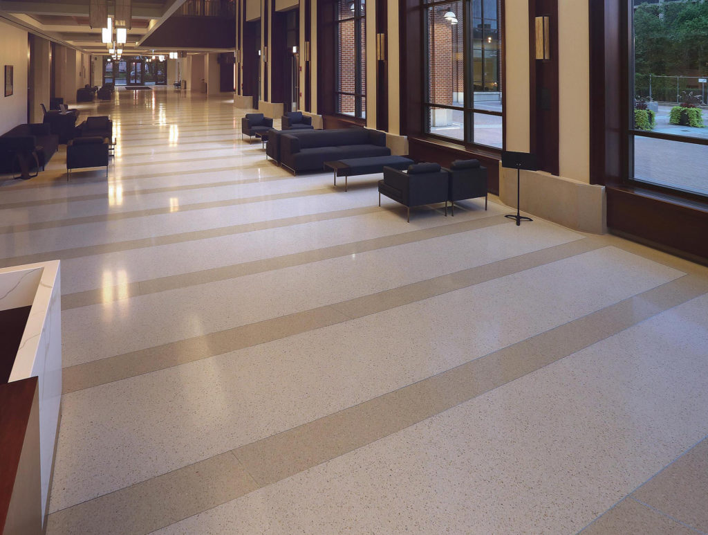 DePaul School of Music terrazzo flooring